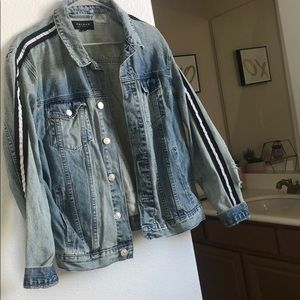 denim stripped PACSUN jacket, gently used!